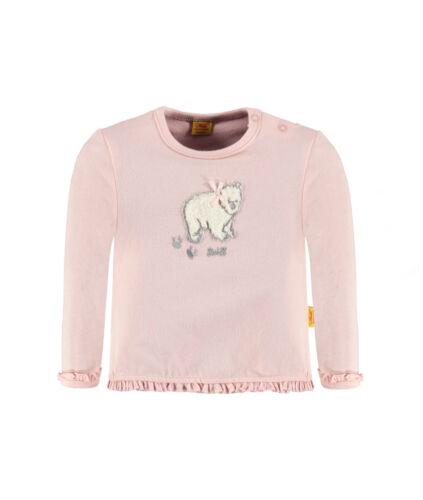 STEIFF Newborn Little Bear Girls Shirt rosa mit Eisbär Gr 56  NEU
