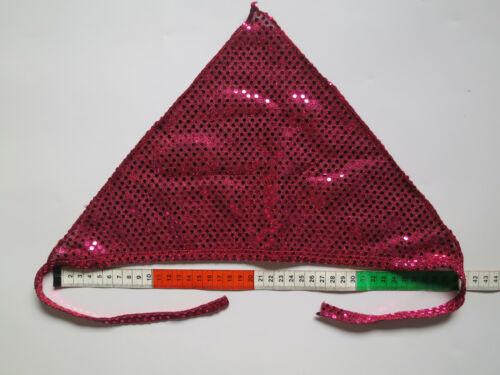 6 Bandanas Dreiecks-//Kopf-//Halstücher Pailletten Kinder Geburtstag Farbwahl NEU