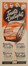 1949 Fritos Golden Chips of Corn Food Vintage Snack Taste Delight Krisp Texas AD
