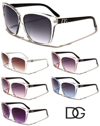 dg1102 DG Eyewear Womens Ladies Retro Translucent Eyes Sunglasses