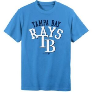new arrival 782df 027bf Image is loading MLB-Tampa-Bay-Rays-Boys-Short-Sleeve-T-