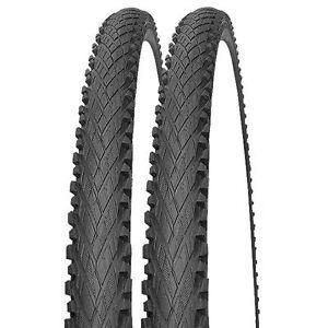 2x-Impac-Crosspac-Fahrrad-Reifen-Decken-mit-Semi-Slick-Profil-20-034-24-034-26-034-28-034