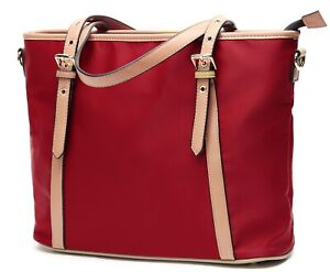 Nylon-Handbags-Tote-Purse-for-Women-Lightweight-Water-Resistant-red
