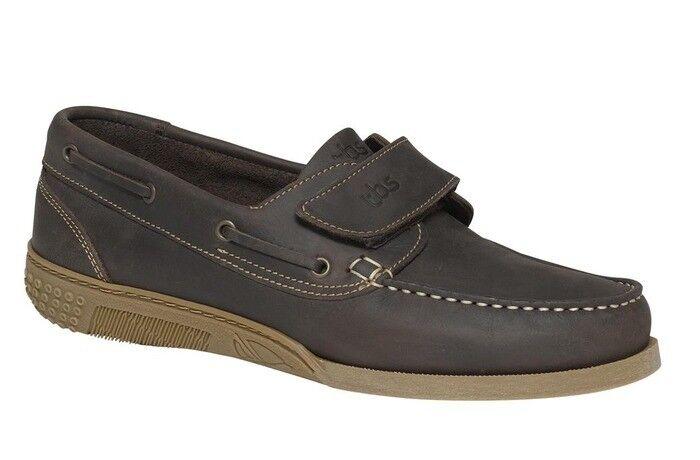 Chaussure bateau en cuir brown pour homme TBS HOMARD pointure 41