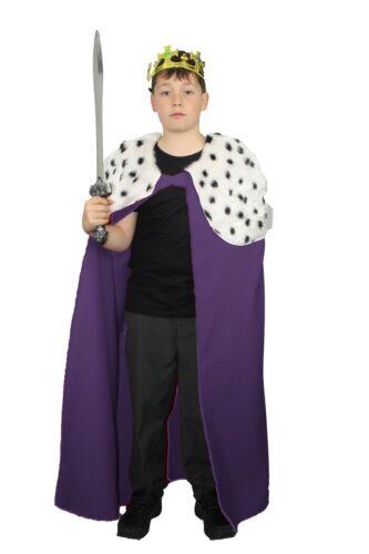 Les dragons den enfant violet deluxe kings cape déguisement âge 8-12