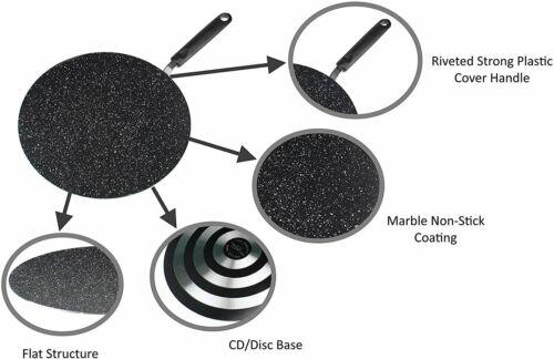 Tawa  26cm Tri-Star Non-Stick Marble Coating Flat Pan
