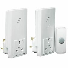 Byron Wireless Door Bell Ding Dong Chime with 2 Plug In Through Receivers DB333