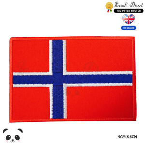 Norway-National-Flag-Embroidered-Iron-On-Sew-On-Patch-Badge-For-Clothes-etc