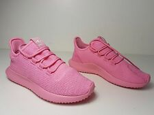 size 7 Adidas Tubular Shadow Knit Pink Womens Training Running Sneakers NEW