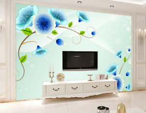 3D Morning Glory blue 435 Tapete Tapeten Mauer Foto Familie Tapete Wandgemälde