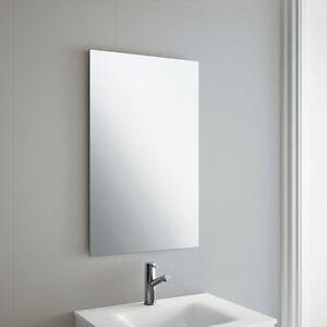 Plain Frameless Bathroom Mirror With Wall Hanging Fixings Ebay