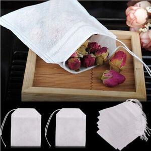 100-Pack-Coton-Mousseline-de-Cordon-Sacs-reutilisables-savon-pour-le-Bain-Herbes-The-5-5-7cm