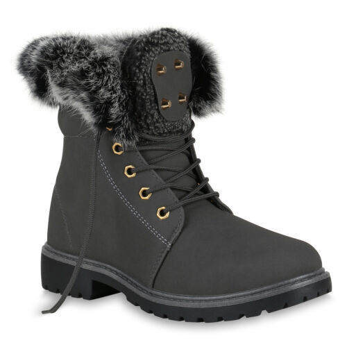Damen Worker Boots Modische Outdoor Stiefeletten Nieten 819432 Schuhe
