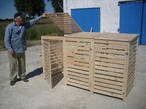 m lltonnen box f r 2 tonnen m llcontainer massivholz neu angebot ebay. Black Bedroom Furniture Sets. Home Design Ideas