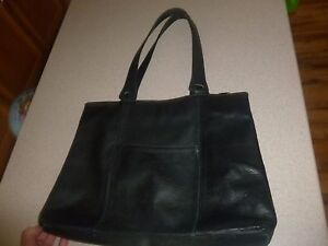 Territory Ahead Black Leather Durable Tote Bag Handbag