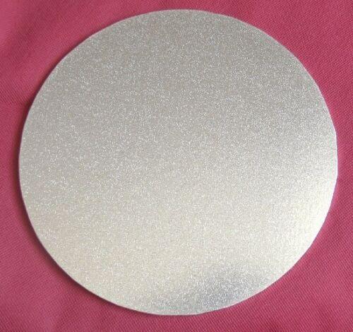"Gold   Round Square Thickness 5mm 6/"" inch masonite cake board Silver"