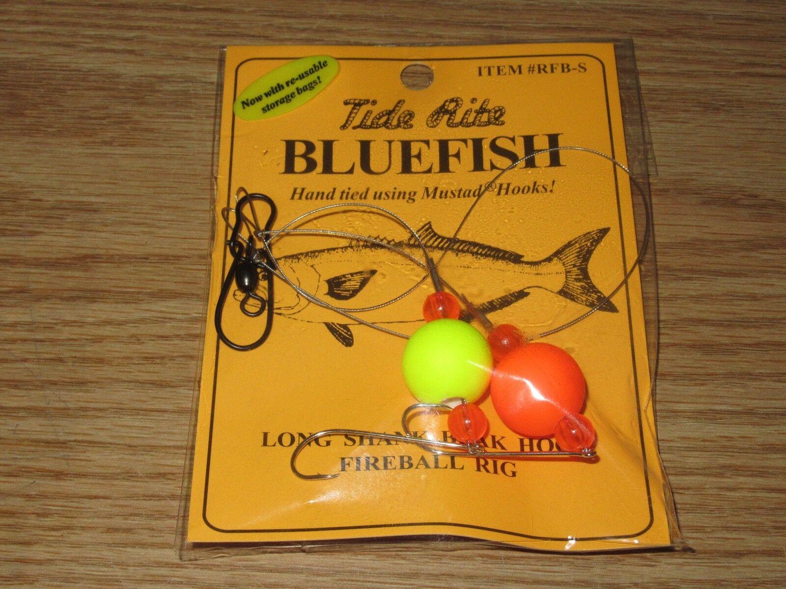24 blueEFISH TIDE RITE RFB-S BEAK HOOK FIREBALL RIGS SALTWATER FISH RIG MUSTAD