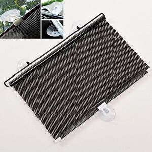 new retractable car auto sun shade visor rear window. Black Bedroom Furniture Sets. Home Design Ideas