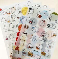 6 Molang Rabbit Cartoon Animal Diary Planner Sticker Deco Cute Cartoon Kawaii D2