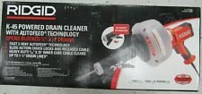 New Ridgid 35473 Hand Held Drain Cleaner With Auto Feed Model K 45af