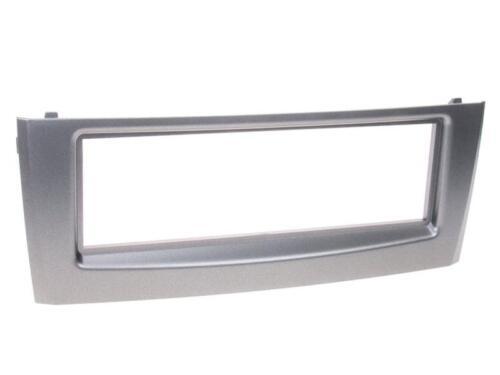für Fiat Grande Punto 199 Auto Radio Blende Einbau Rahmen 1-DIN anthrazit silber