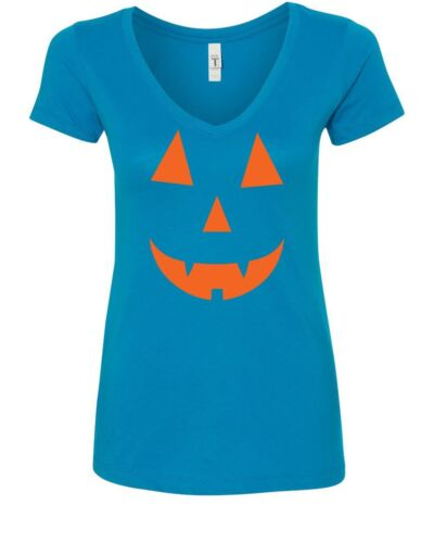 Jack O/'Lantern Halloween V-Neck T-Shirt Funny Spooky Pumpkin