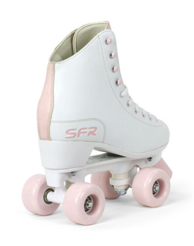 Optional Skate Bag SFR Figure Quad Roller Skates Girl/'s Women/'s White//Pink