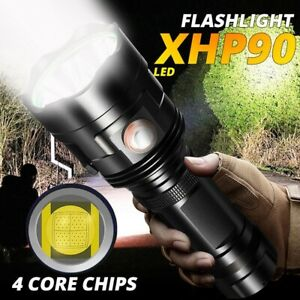 200000LM XHP90 LED Flashlight Rechargeable 6 Modes Ultra Bright Torch 26650