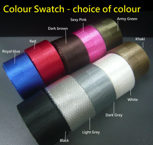 DIY bag//pet lead//belt Making Craft Strong 25mm Herringbone Polyester Webbing