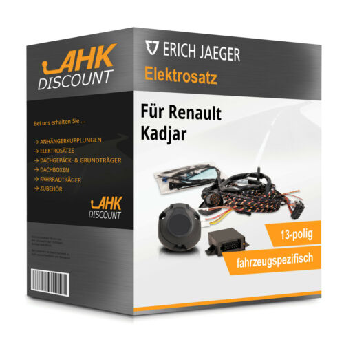 Für Renault Kadjar 06.2015-10.2018 JAEGER Elektrosatz 13polig fahrzeugspezifisch
