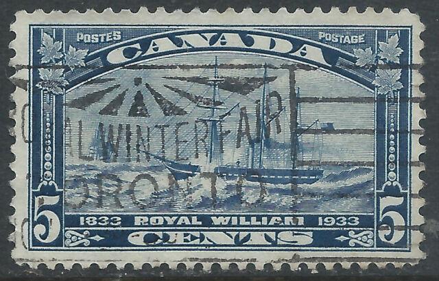 Canada #204(3) 1933 5 cent dk blue ROYAL WILLIAM TORONTO ROYAL WINTER FAIR Used