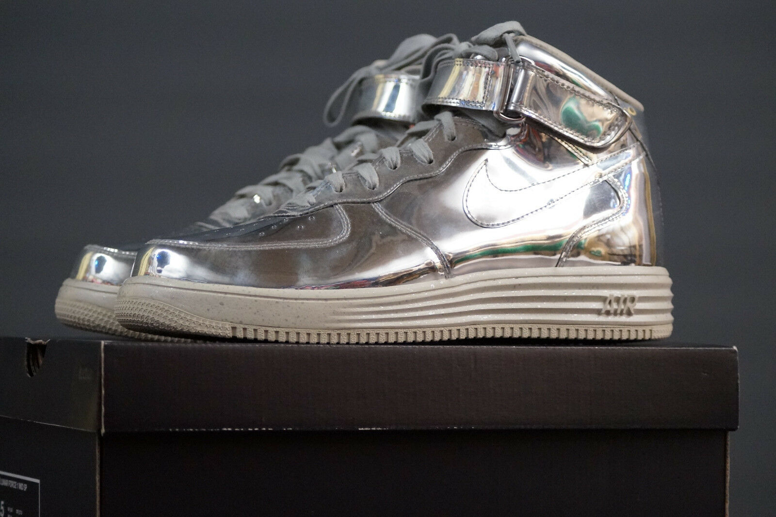 Nike Lunar Force 1 Mid SP Release 2013 UE 43 uk.8, 5 Chrome Metallic 652849 092