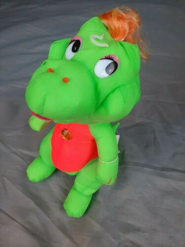 1992 3x Darlin Dinosaures Personnage-vol N Hold Dino Dinosaure fille doudou