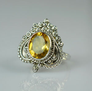 Citrine-Silver-Ring-925-Solid-Sterling-Silver-Handmade-Jewelry-US-CIT-003