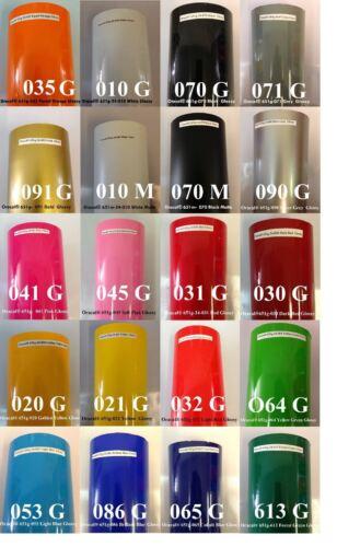"12/"" Adhesive Vinyl  sign maker//Plotter 9 Rolls 12 x 5/' Each Oracal 651 USA"
