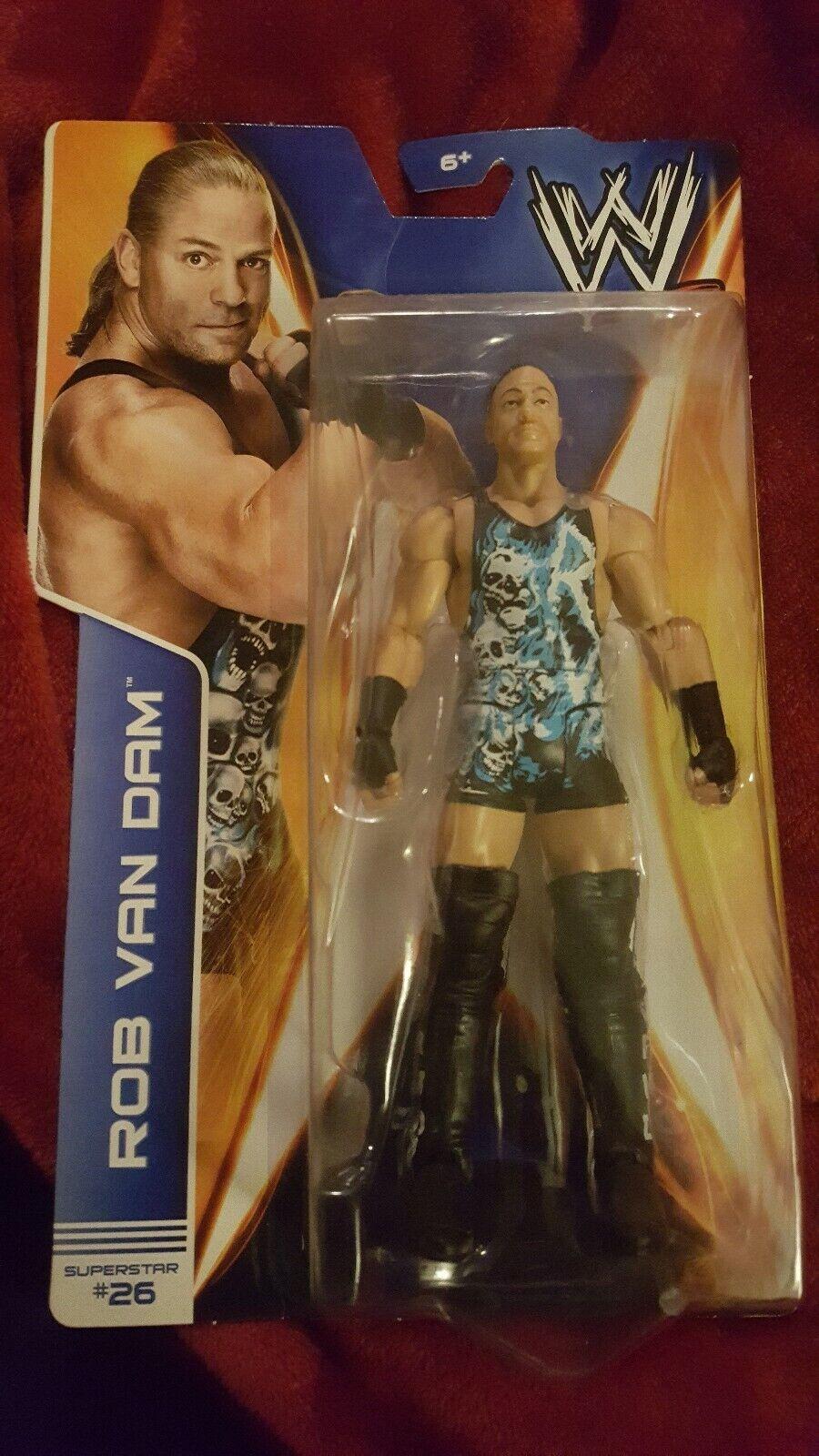 WWE Rob Van Dam Mattel Basic Series 39 Rare NIB ECW NXT RVD Never Opened