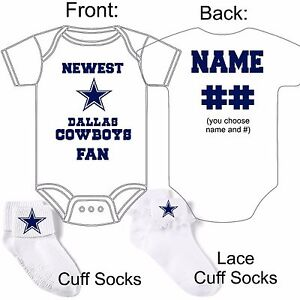 Personalized dallas cowboys fan baby gerber onesie socks custom image is loading personalized dallas cowboys fan baby gerber onesie socks negle Choice Image