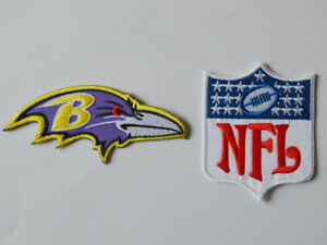 a9fad5fc89edac Image is loading 2pcs-Baltimore-Ravens-NFL-Logo-Patches-embroidered-iron-