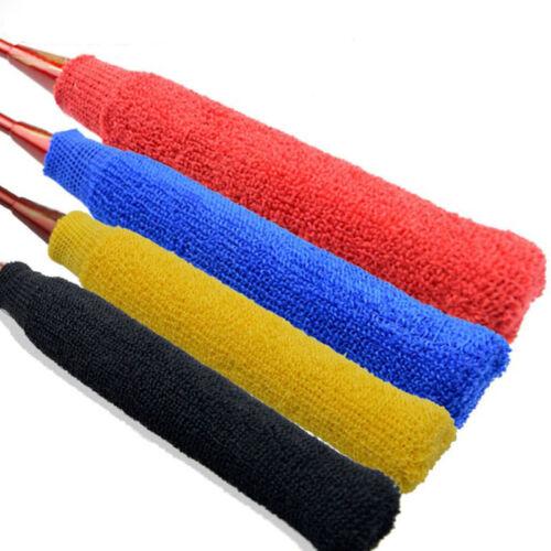 2 Pcs Racket Elastic Towel Wrap Over Grip Cover for Badminton 4  Colors Pro Tool