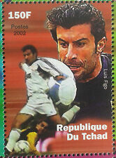 LUIS FIGO PORTUGAL, BARCELONA, REAL MADRID, INTER SOCCER CHAD FOOTBALL MNH **
