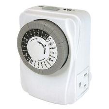 "PRIME Hydoponic:1.5min-1hour interval 15-Amp 2-Outlet WaterPump Timer ""MODIFIED"""