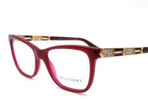 b44ea6ec52f Bvlgari BV 4135-B 4135 Eyeglasses Bordeaux Gold 5333 Authentic 53mm ...