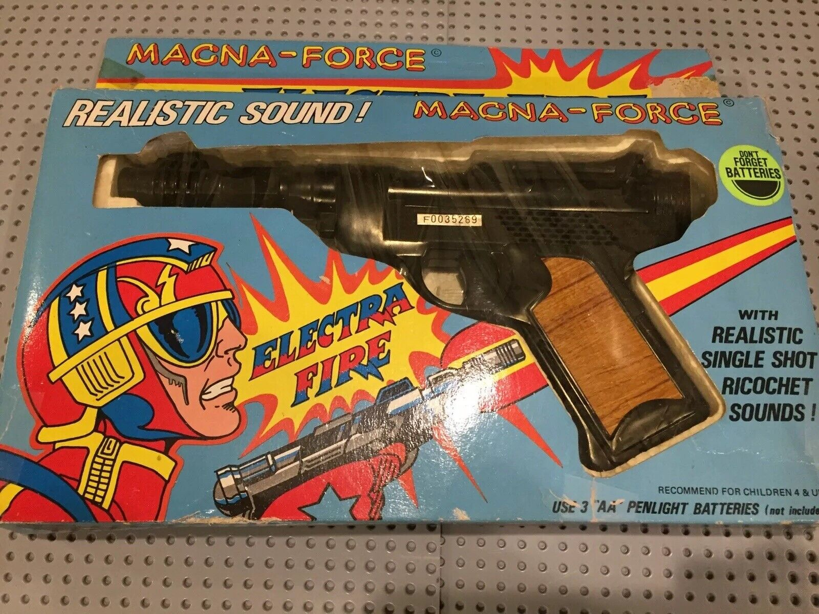 Vintage Magna Force Electra Fire Toy Gun New In BoxNo. 8150