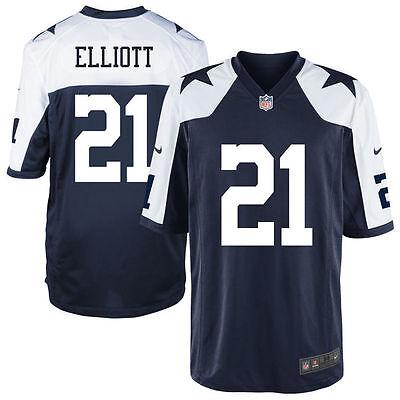 new product 595e4 c4d71 Ezekiel Elliott #21 Dallas Cowboys Nike Youth Throwback Game Jersey  -Blue/White | eBay