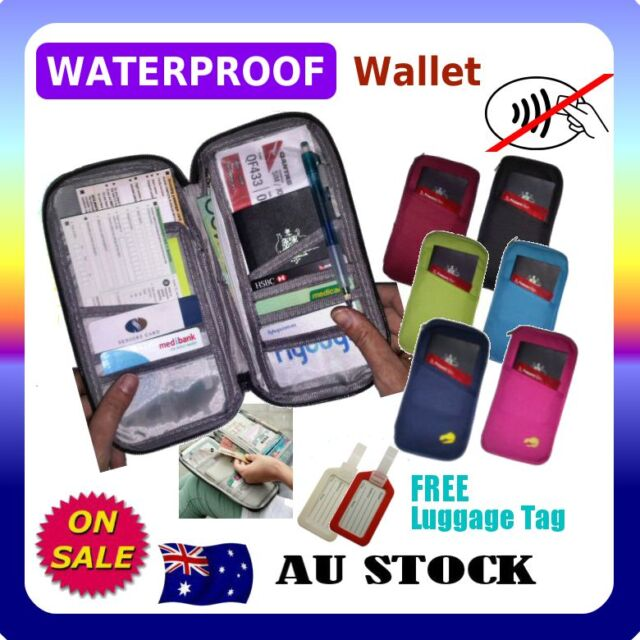 RFID Anti Scan BLOCK SLEEVE TRAVEL WALLET PASSPORT HOLDER Bag Credit Card Case