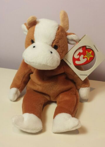 new with tags ut 3rd generation tush NWT BESSIE the brown cow Ty Beanie Baby