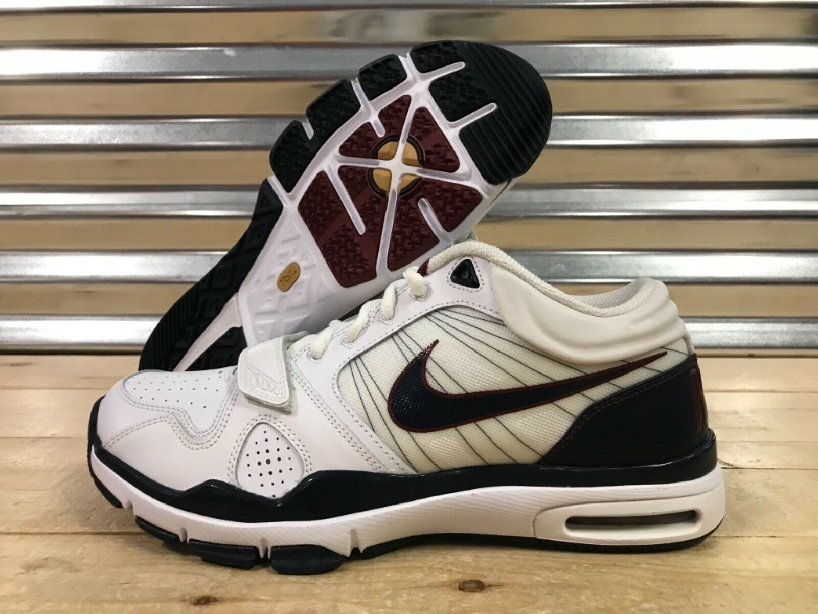 Nike Air Trainer 1.2 Mid Training shoes White bluee Red USA SZ 11 ( 407766-146 )