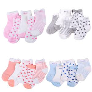 5Pairs-Bebe-Garcon-Fille-Coton-Chaussettes-Toddler-Enfants-Doux-Chaussette