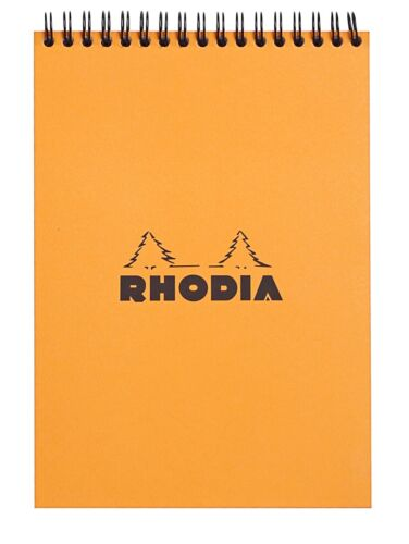 Orange Lined Rhodia Wirebound Notebook 6 x 8.25 80 Sheets NEW R16501