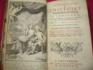 Audacieux Histoire GÉnÉrale & Politique De L'univers Baron De Pufendorff TrèS Poli